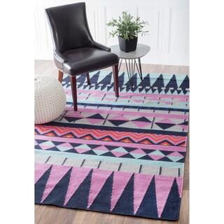 nuLOOM Southwestern Flatweave Wool Multi Rug (7'6 x 9'6)