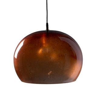 Aura Small Copper 1-light Hanging Pendant (India)