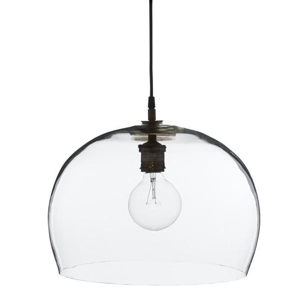 Aura Small Clear 1-light Hanging Pendant (India)