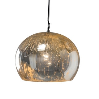 Aura Large Silver 1-light Hanging Pendant (India)