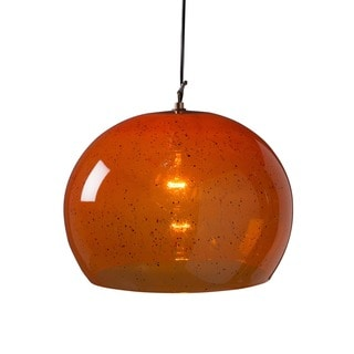 Aura Large Copper 1-light Hanging Pendant (India)