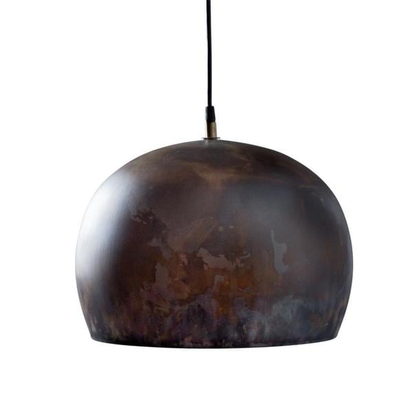 Aura Large Charcoal 1-light Hanging Pendant (India)