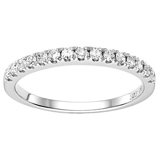 Charles & Colvard Created Moissanite Sterling Silver 0.225ct Moissanite Accent Melee Band