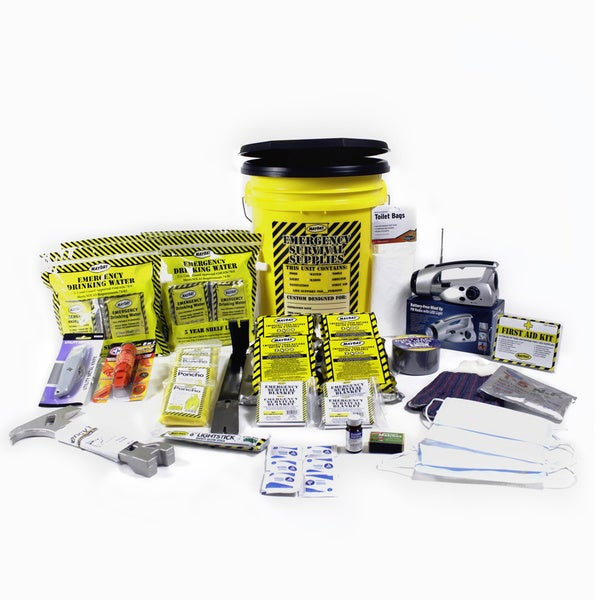 KEX4P -4 Person Deluxe Emergency Honey Bucket Kits