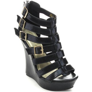 Spirit Moda ADA-2 Women's Gladiator Strappy Platform Wedges