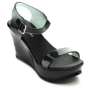 Spirit Moda CHIOE-1 Women's Casual Adjustable Strap Jelly Platform Wedges