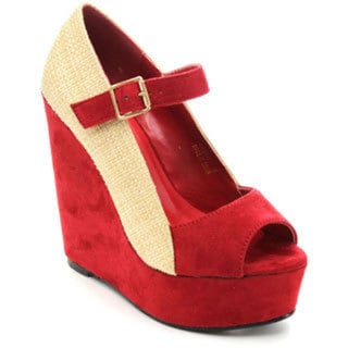 Spirit Moda CINDY-1 Women's High Heel Platform Espadrilles Wedges