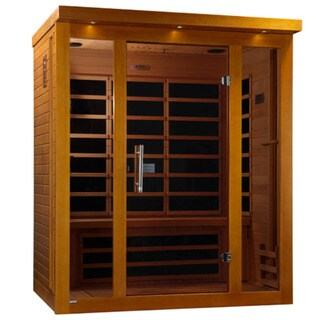 Dynamic 3-person Far Infrared Natural Hemlock Wood Florence Sauna / DYN-6315-01