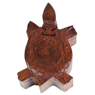 Wood Turtle Puzzle Box (India)
