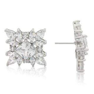 Gioelli Sterling Silver Multi-shape Cubic Zirconia Stud Earrings