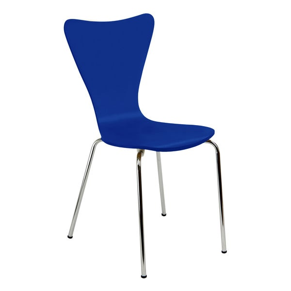Legare Furniture Bent Ply Chair in Cobalt Blue Finish