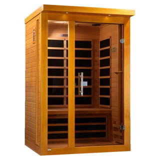 Dynamic 2-person Far Infrared Natural Hemlock Wood Vienna Sauna DYN-6215-01