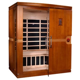 Dynamic 3-person Far Infrared Natural Hemlock Wood Madrid II Sauna DYN-6310-01