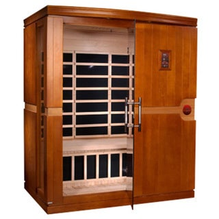 Dynamic DYN-6310-01 3-person Far Infrared Natural Hemlock Wood Madrid II Sauna
