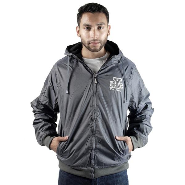 Rock Revolution Men's Reversible NYC logo Zip-Up Hooded Jacket