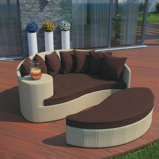 Taiji Outdoor Tan/ Brown Patio Daybed
