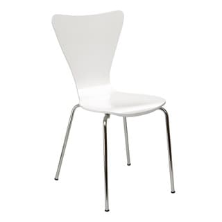 Legare Furniture Bent Ply Chair in White Finish