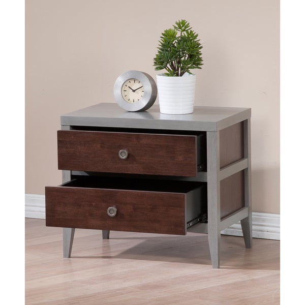 Motley Dark Brown 2-drawer Nightstand