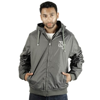 Rock Revolution Men's Reversible NY Zip-Up Hooded Jacket
