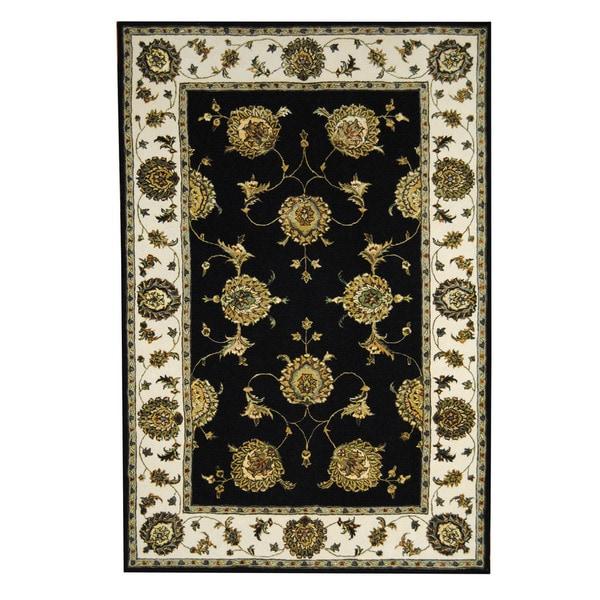 Herat Oriental Indo Hand-tufted Floral Tabriz Wool & Silk Rug (5'9 x 8'9) - 5'9 x 8'9 15263696