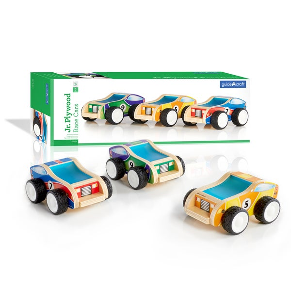 Guidecraft Junior Plywood Race Cars