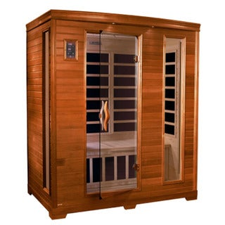 Dynamic 3-person Far Infrared Natural Hemlock Wood Geneva Sauna / DYN-6444-04