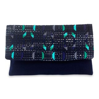 Handcrafted Cotton 'Starry Magic' Clutch Bag (Guatemala)