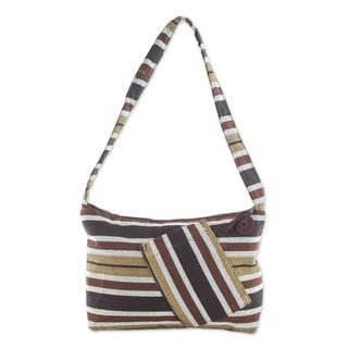 Handcrafted Cotton 'Fertile Earth' Shoulder Bag (Guatemala)
