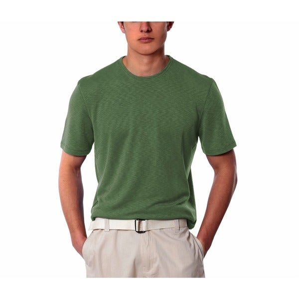 Men's Green Crew Neck Shirt
