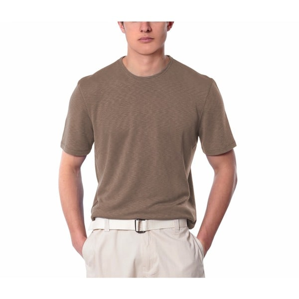 Men's Khaki Crew Neck Shirt