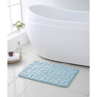 VCNY Pebbles 17 x 24 inch Memory Foam Bath Run (Set of 2)
