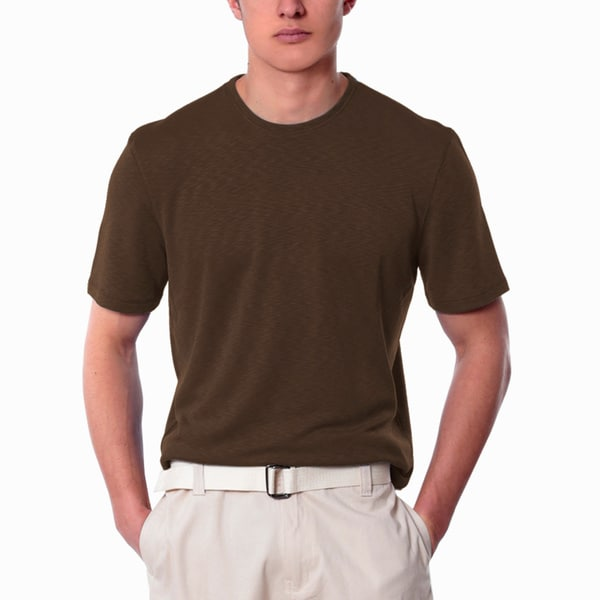 Men's Brown Crew Neck Shirt