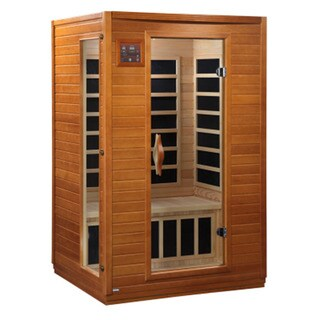 Dynamic 1 - 2 Person Far Infrared Bordeaux Hemlock Wood Sauna / DYN-6202-03