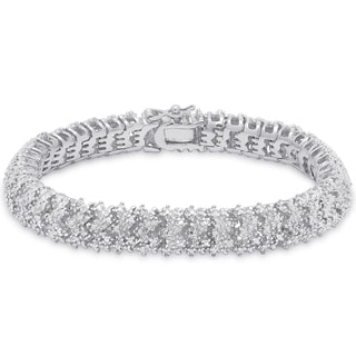 Finesque Sterling Silver 1ct TDW Diamond Bracelet (I-J, I2-I3)