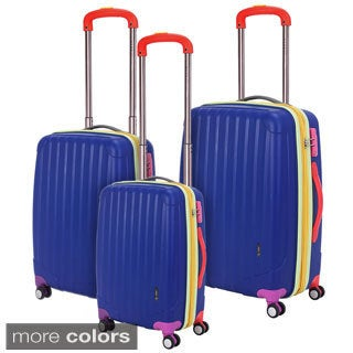 Travelers Club Get Away 3-piece Polypropylene Expandable Double-Spinner Luggage Set
