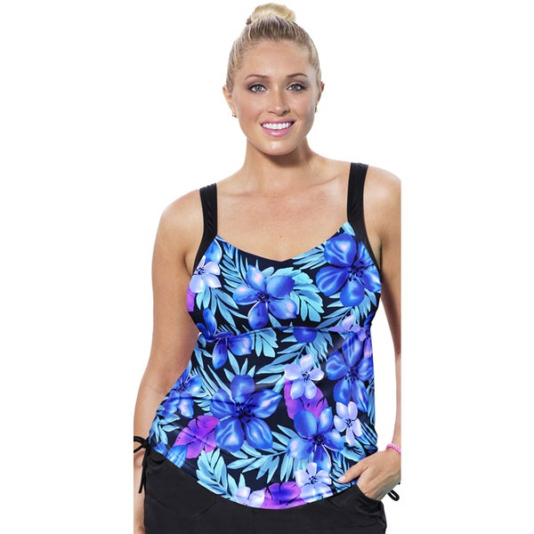 Aquabelle Marina Side Tie Tankini Top