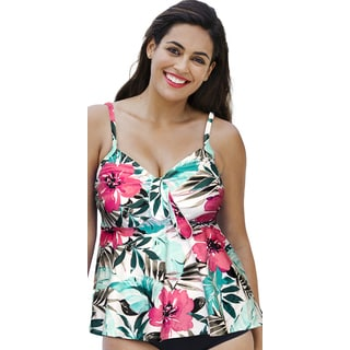 Shore Club Set Sail Tie Front Tankini Top