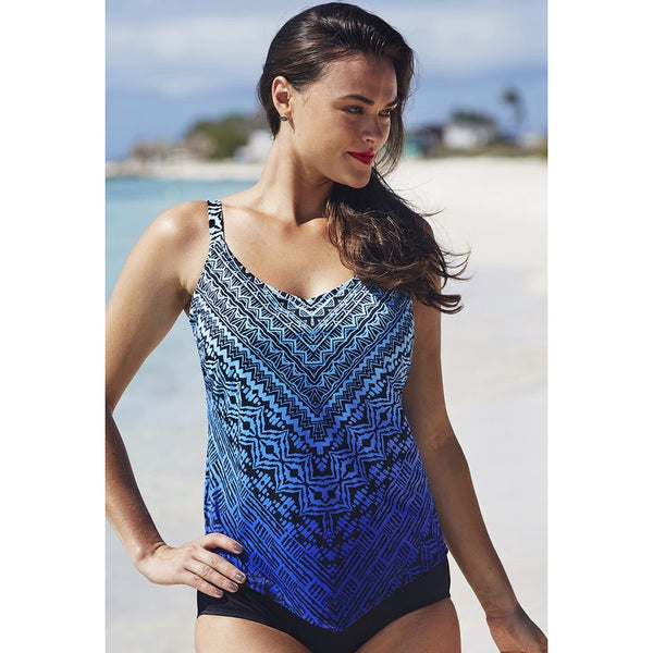 Tropiculture Tribal V Front Tankini Top