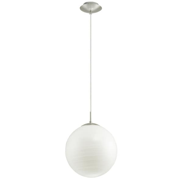Eglo Milagro 1-light Chrome Finish Pendant with White Glass