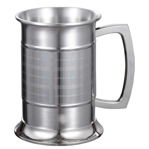 Visol Metric Glass Bottom 16-ounce Stainless Steel Beer Mug