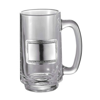 Visol Argyle Glass Beer Mug With Pewter Plate