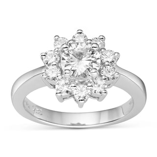 Charles & Colvard 14k Gold 1.40 TGW Round Classic Moissanite Solitaire Fashion Ring