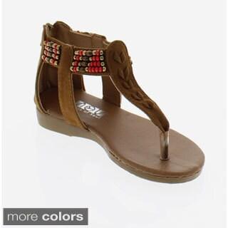 SOS Girls' Beaded Sandals