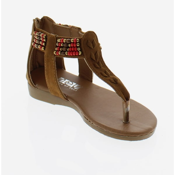 SOS Girls' Beaded Sandals