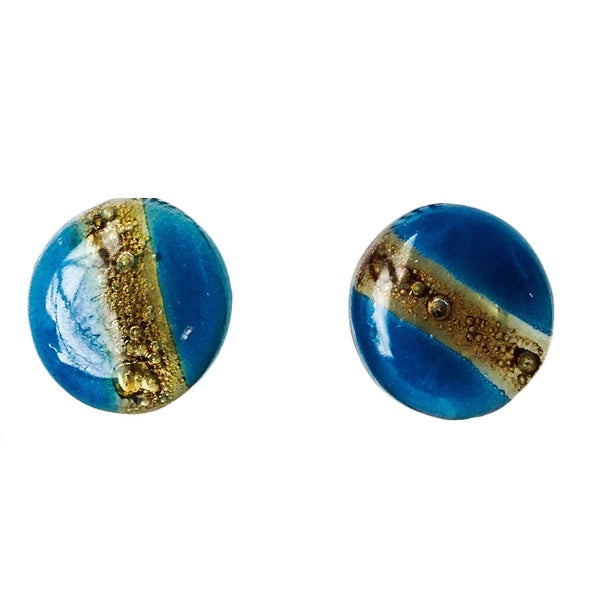Greenola Style Lima Glass Stud Earrings (Bolivia)