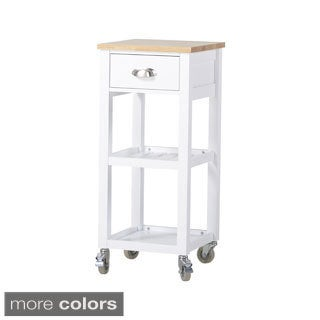 Rolling Kitchen Island Cart with One Drawer