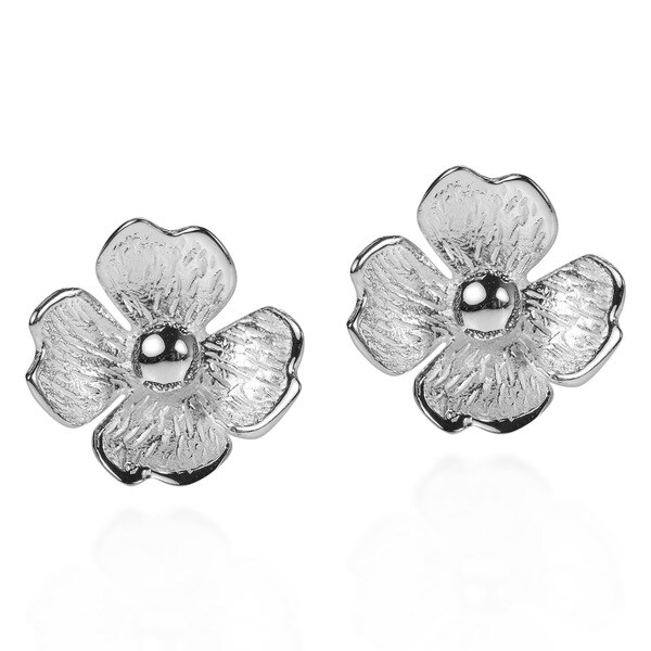 Summer Clover Blossom .925 Sterling Silver Stud Earrings (Thailand)