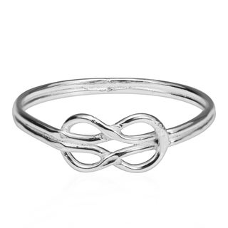 Forever Love Infinity Knot Sterling Silver Ring (Thailand)