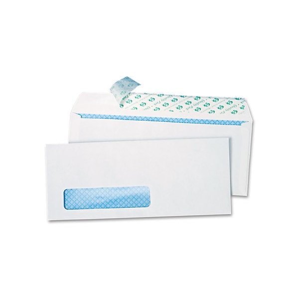 Quality Park White Redi-Strip Security Tinted Window Envelope