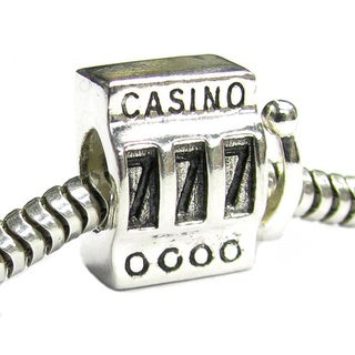 Queenberry Sterling Silver Lucky 7 Casino Slot Machine European Bead Charm